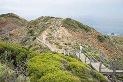 Boardwalk przy przylądkiem Schanck, Mornington półwysep, Australia Zdjęcie Royalty Free