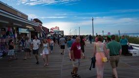 Boardwalk przy Rehoboth plażą Delaware Zdjęcie Stock