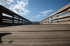 Boardwalk Przy San Juan Obraz Royalty Free
