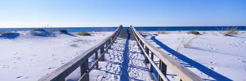 Boardwalk przy Santa Wyspą Rosa zdjęcie stock