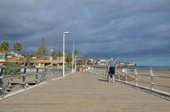 Boardwalk przy wyspami kanaryjska Zdjęcie Stock