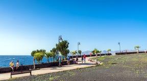 Boardwalk in Puerto del Carmen, Lanzarote, Spain Royalty Free Stock Image
