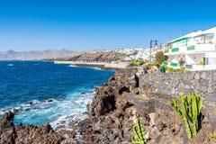 Boardwalk in Puerto del Carmen, Lanzarote, Spain Stock Photo