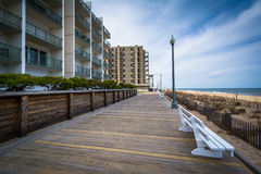 The boardwalk in Rehoboth Beach, Delaware. Royalty Free Stock Images