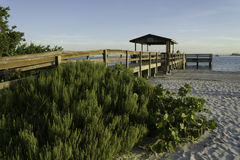 Boardwalk at Sanibel Island Royalty Free Stock Images