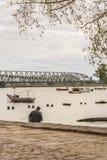 Boardwalk at Santa Lucia River in Montevideo Uruguay Stock Photos