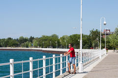 Boardwalk at Sarnia Bay horizontal Stock Photography