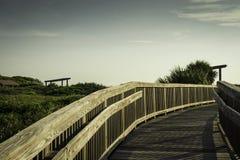 Boardwalk at Satellite Beach Royalty Free Stock Photo