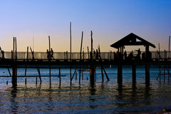 Boardwalk by the Sea. Boardwalk situated by the sea Royalty Free Stock Images