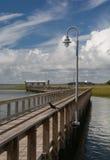 Boardwalk at Shem Creek Stock Images