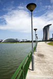 Boardwalk in Singapore (Marina Bay Sands) Royalty Free Stock Image
