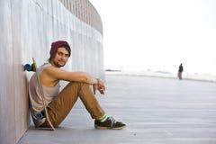 Boardwalk skateboarding Stock Photos