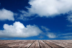 Boardwalk and sky Stock Images