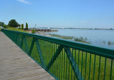 Boardwalk Sorel-Tracy Stock Image
