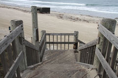 Boardwalk Steps to Beach Stock Images