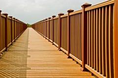 Boardwalk in sunlight Stock Images