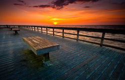 Boardwalk sunrise Royalty Free Stock Image