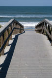 Boardwalk to Atlantic Ocean Royalty Free Stock Images