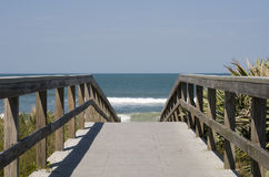 Boardwalk to Atlantic Ocean. Boardwalk to Atlantaic Ocean in Cape Canaveral, Florida Royalty Free Stock Photography