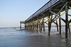 Boardwalk to the Atlantic Ocean Stock Photo