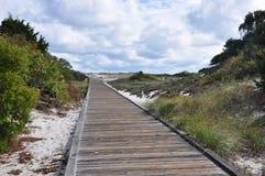 Boardwalk to the beach. A boardwalk to the beach at Seaside Park, NJ Royalty Free Stock Photography