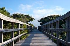 Boardwalk to Beach Stock Photos