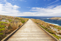 Boardwalk to the coast Royalty Free Stock Images