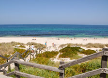Boardwalk to Cottesloe Beach royalty free stock photography