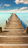 Boardwalk to the horizon Royalty Free Stock Images