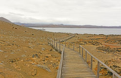 Boardwalk to the Ocean on a Volcanic Island Stock Photography