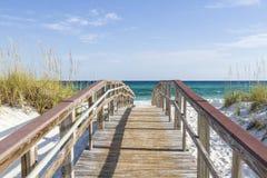Boardwalk to the Turqouise Gulf Stock Photos