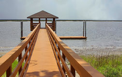Boardwalk to the water Royalty Free Stock Photo