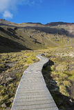 Boardwalk through Tongariro National Park, New Zealand Stock Photography