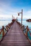 Boardwalk at tropical island Stock Image