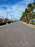 boardwalk valencia Royaltyfria Foton