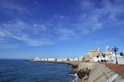 Boardwalk View Cádiz Stock Image