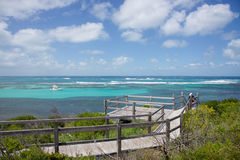 Boardwalk View at Rottnest Island Stock Photo