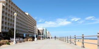 Boardwalk Virginia plaży usa obrazy royalty free