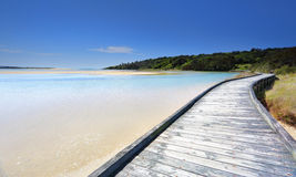 Boardwalk at Wallaga Royalty Free Stock Photos