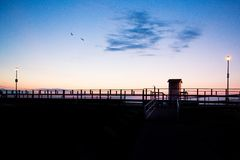 Boardwalk wschód słońca Zdjęcia Royalty Free