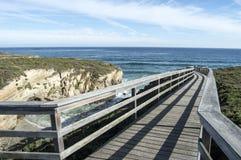 Boardwalk wzdłuż plaży katedry Zdjęcia Stock