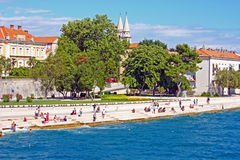 Boardwalk in Zadar, Croatia Stock Photos