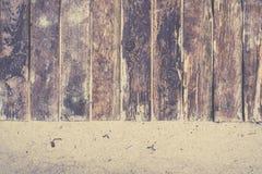 Boardwalk zbliżenie na plaży z piaskiem obraz royalty free