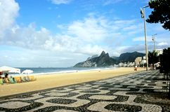 boardwalkipanema rio Royaltyfri Foto