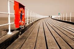 boardwalkpir Arkivbild