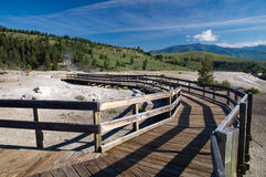 Boardwalks Yellowstone park Zdjęcia Stock