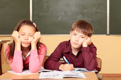 Boaring pupils Stock Photo