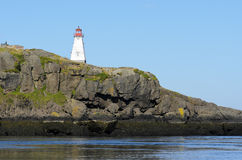 Boars Head Lighthouse. Built in 1864 in Tiverton Nova Scotia Canada Royalty Free Stock Photography