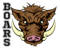 Boars Sports Mascot Royalty Free Stock Photography