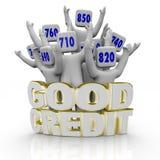Boas contagens de crédito - Cheering dos povos Fotografia de Stock Royalty Free